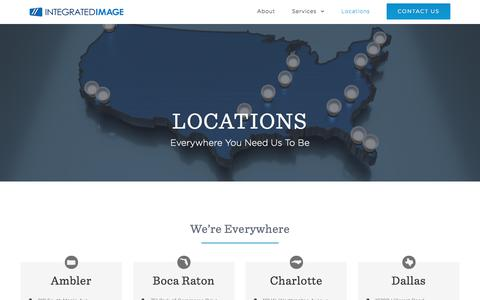 Screenshot of Locations Page integratedimage.com - Locations – Integrated Image - captured Sept. 19, 2018