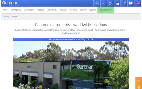 Screenshot of Locations Page gantner-instruments.com - Locations | Gantner Instruments - captured Sept. 27, 2018