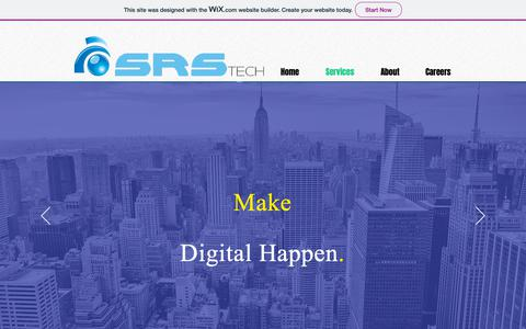 Screenshot of Services Page srstechbiz.com - SRS BizTech | Services - captured Oct. 1, 2018