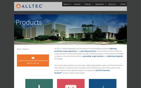 Screenshot of Products Page alltecglobal.com - Products - Alltec - captured Nov. 20, 2016