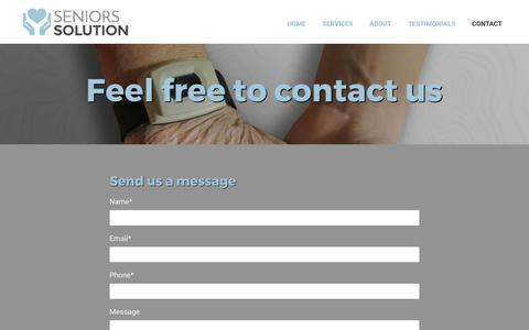 Screenshot of Contact Page seniors-solution.com - Contact | Seniors Solution | Ottawa, ON - captured June 11, 2017
