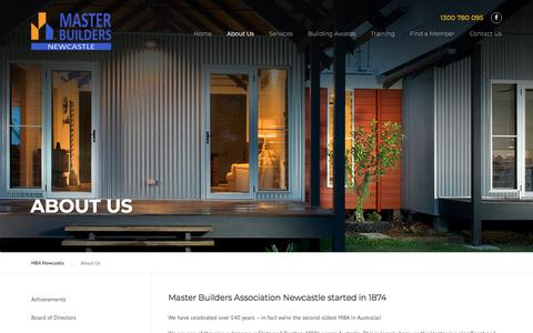 Screenshot of About Page newcastle-mba.com.au - About Us - MBA Newcastle - captured July 1, 2018