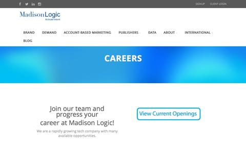 Screenshot of madisonlogic.com - Careers | Madison Logic - captured Oct. 2, 2015