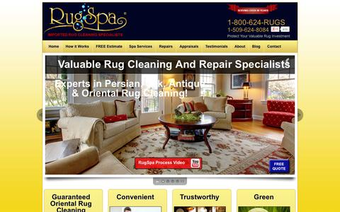 Screenshot of Home Page rugspa.com - Nations #1 Oriental Rug Cleaning Service by Professional Rug Cleaners - captured Sept. 30, 2014