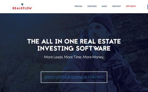 Screenshot of Home Page realeflow.com - Real Estate Investing Software | Realeflow - captured Oct. 14, 2015