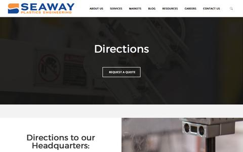 Screenshot of Maps & Directions Page seawayplastics.com - Directions - Seaway Plastics - captured Sept. 30, 2017