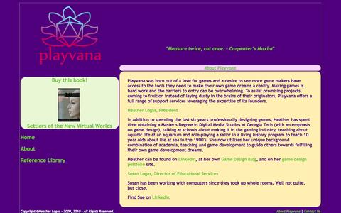 Screenshot of About Page playvana.net - Playvana - captured Sept. 30, 2014