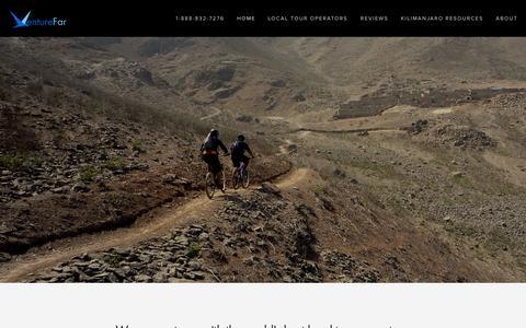 Screenshot of Home Page venturefar.com - VentureFar - captured Oct. 7, 2014