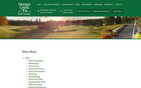 Screenshot of Site Map Page morgancreekgolf.com - Site Map - captured Feb. 18, 2016