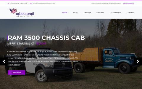 Screenshot of Home Page missmonti.com - Miss Monti – Ed Voyles Chrysler Dodge Jeep Ram Sales - captured July 26, 2018