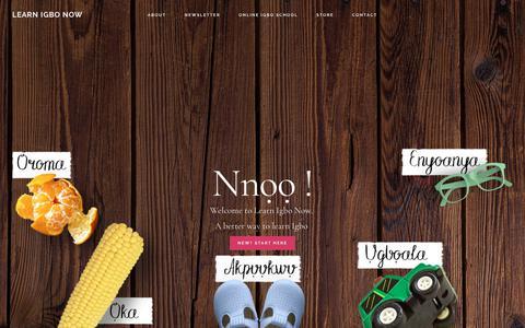 Screenshot of Home Page learnigbonow.com - Learn Igbo Now - An Incredible resource for Igbo Learners and Teachers - captured July 17, 2018
