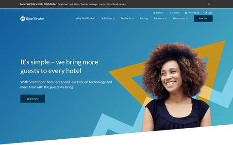 Screenshot of About Page siteminder.com - About SiteMinder | The world's #1 hotel technology provider - captured June 13, 2018
