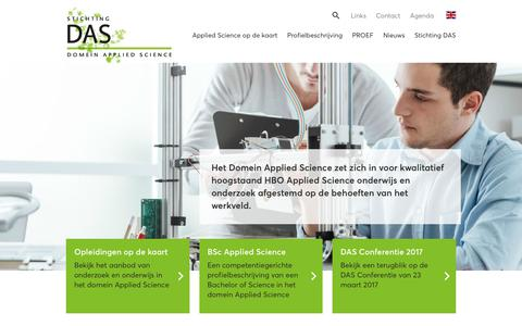 Screenshot of Home Page appliedscience.nl - Home — Domein Applied Science - captured Oct. 12, 2017