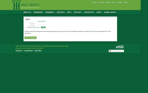 Screenshot of Login Page echalk.com - Holy Trinity Diocesan High School - Login - captured Sept. 30, 2014