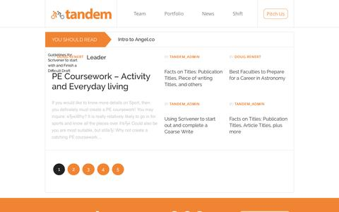 Screenshot of Blog Press Page tandemcap.com - Blog | Tandem – Silicon Valley's Mobile Seed Fund - captured Jan. 20, 2016