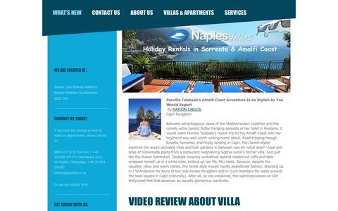 Screenshot of Blog naplesvillas.co.uk - Naples Villas - What's New - captured Dec. 6, 2016