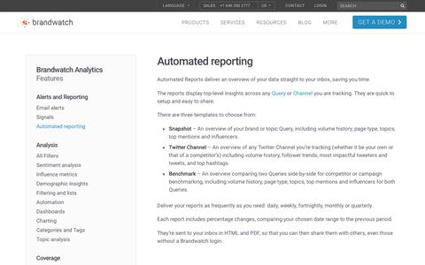 Automated reporting | Brandwatch