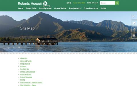 Screenshot of Site Map Page robertshawaii.com - Site Map   Roberts Hawaii - captured June 15, 2017