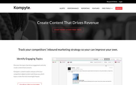 Inbound Marketing Competitive Intelligence | Kompyte