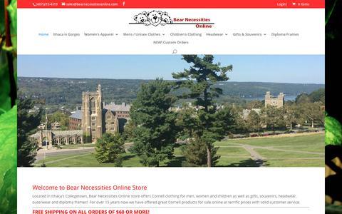 Screenshot of Home Page bearnecessitiesonline.com - Bear Necessities Online Store | Cornell University Memorabilia and Other Products Online Store - captured Oct. 10, 2017
