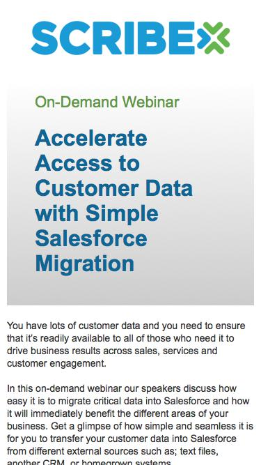 On-Demand WebinarAccelerate Access to Customer Data with Simple Salesforce Migration