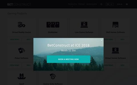 Screenshot of Products Page betconstruct.com - Products | BetConstruct - captured Dec. 19, 2017