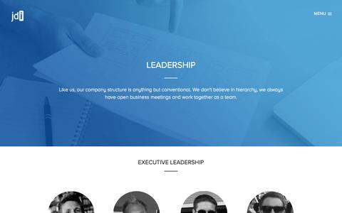 Screenshot of Team Page justdevelop.it - Leadership - captured Oct. 6, 2014