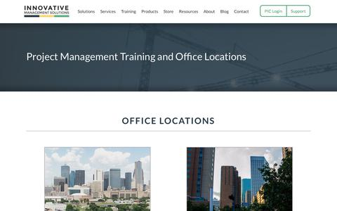 Screenshot of Locations Page ims-web.com - Locations   Innovative Management Solutions - captured Oct. 1, 2014