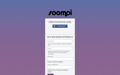 Screenshot of Signup Page soompi.com - Login   Soompi - captured Aug. 30, 2016