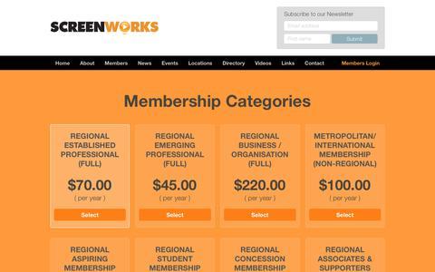 Screenshot of Signup Page screenworks.com.au - Become a Member - Screenworks : Screenworks - captured Oct. 20, 2018
