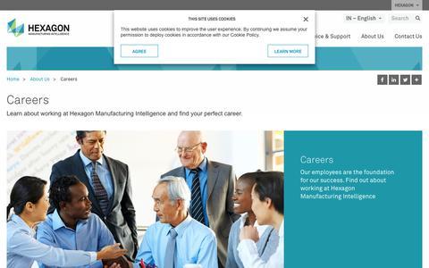 Screenshot of Jobs Page hexagonmi.com - Careers | Hexagon Manufacturing Intelligence - captured Nov. 25, 2017