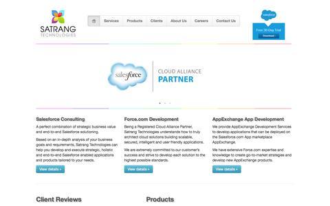 Screenshot of Home Page satrangtech.com - Satrang Technologies - Salesforce Services - captured Sept. 17, 2015