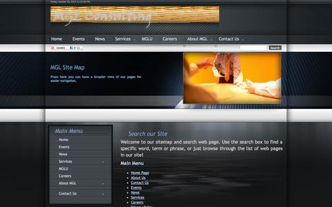 Screenshot of Site Map Page mglconsulting.com - Sitemap - captured Oct. 3, 2014