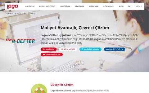 e-Defter | e-Devlet ve e-Dönüşüm Çözümleri | Logo Yazılım