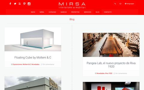Screenshot of Blog mirsa.es - Blog | MIRSA interiorismo & mobiliario - captured Oct. 20, 2017
