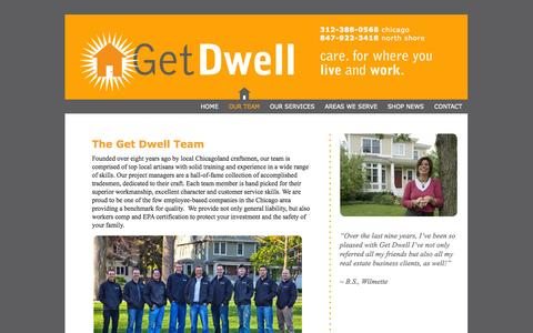 Screenshot of About Page getdwell.com - OUR TEAM |  Get Dwell - captured Sept. 29, 2014