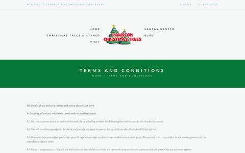 Screenshot of Terms Page cawstonchristmastrees.co.uk - Terms And Conditions | Cawston Christmas Trees - captured May 15, 2017