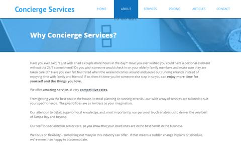 Screenshot of About Page mypersonalconcierge.org - ABOUT - captured Dec. 2, 2016