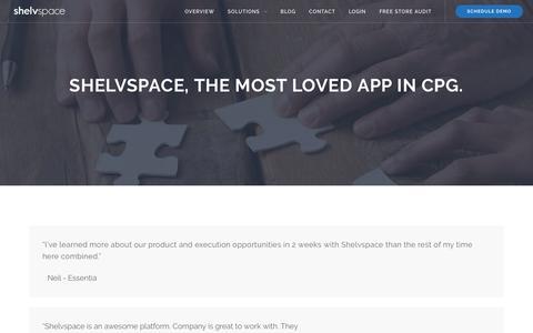 Screenshot of Testimonials Page shelvspace.com - Testimonials – Shelvspace - captured July 30, 2017