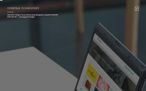 Screenshot of Home Page homepage-technologies.co.uk - Homepage Technologies Homepage Technologies - captured Jan. 23, 2016