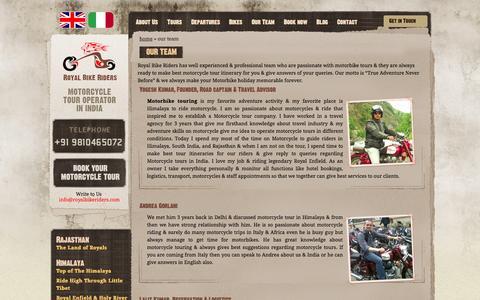 Screenshot of Team Page royalbikeriders.com - Guided Motorbike Team - Royalbikeriders - captured Oct. 29, 2014