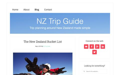 Screenshot of Blog nztripguide.com - NZ Trip Guide - Blog - captured Sept. 30, 2014