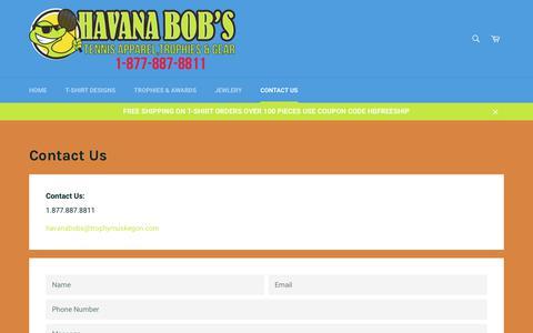 Screenshot of Contact Page havanabobs.com - Contact Us – HavanaBob's - captured Sept. 27, 2018