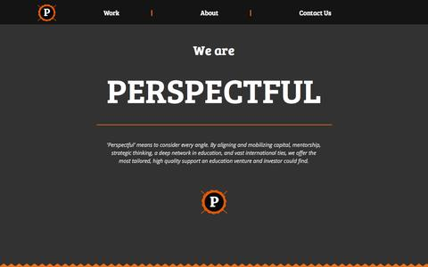 Screenshot of Home Page perspectful.com - Perspectful - captured Oct. 2, 2014