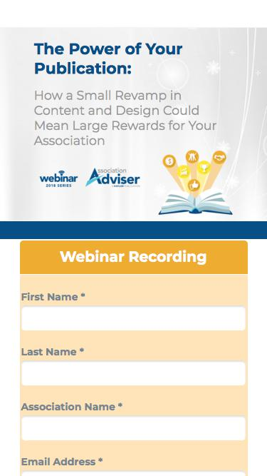 The Power of Your Publication - Webinar Recording - Association Adviser