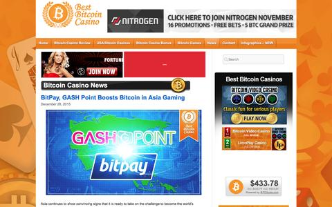 Screenshot of Press Page bestbitcoincasino.com - Bitcoin Casino News - captured Jan. 1, 2016