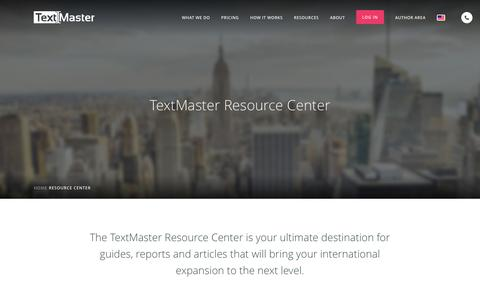 Screenshot of Case Studies Page textmaster.com - Studies, White Papers and Tips on International Expansion - TextMaster - captured April 1, 2017