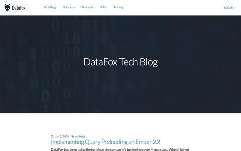 Screenshot of datafox.com - DataFox Tech Blog - captured Jan. 16, 2018