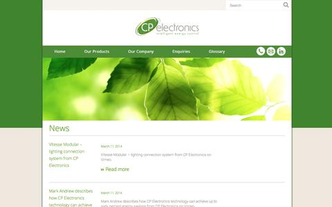 Screenshot of Press Page cpea.com.au - News Archive | CP Electronics Australia - captured Oct. 1, 2014