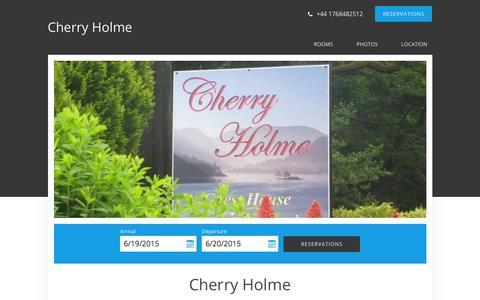 Screenshot of Home Page cherryholme.com - Cherry Holme - Glenridding - United Kingdom - captured June 19, 2015